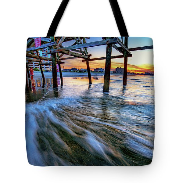 Under Cherry Grove Pier 2 Tote Bag