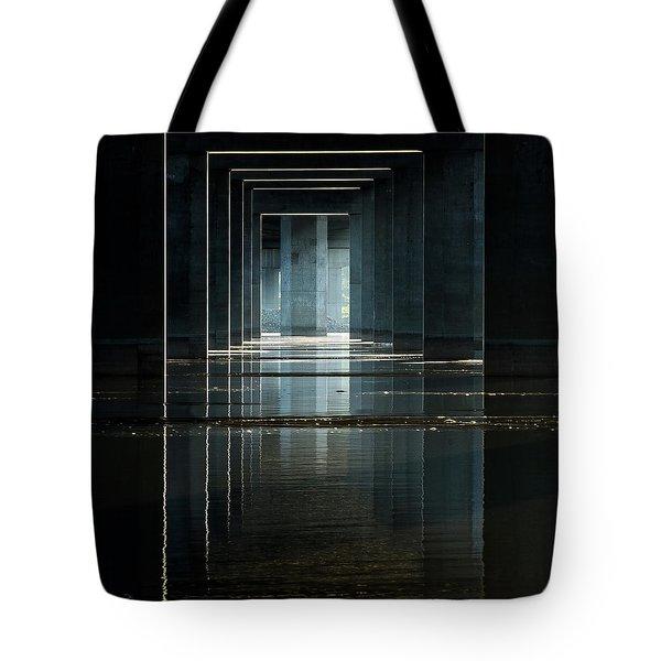 Under Clark Bridge Tote Bag by Jae Mishra