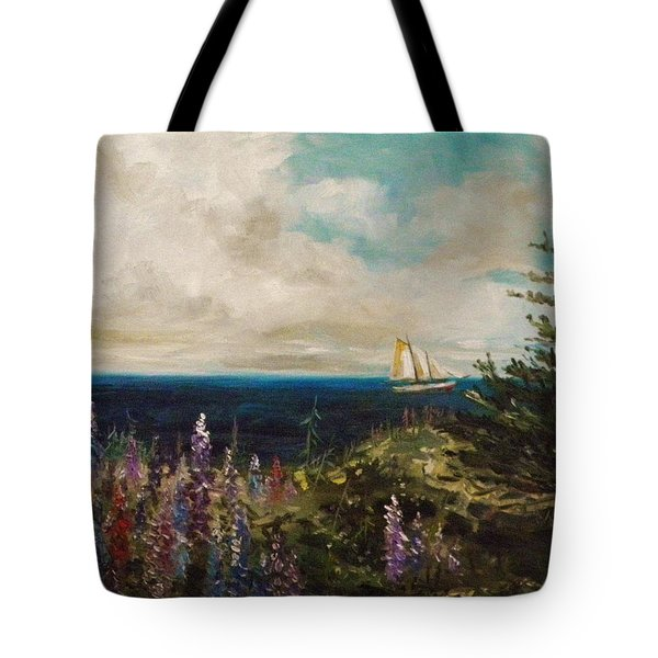 Tote Bag featuring the painting Under Full Sail by John Williams
