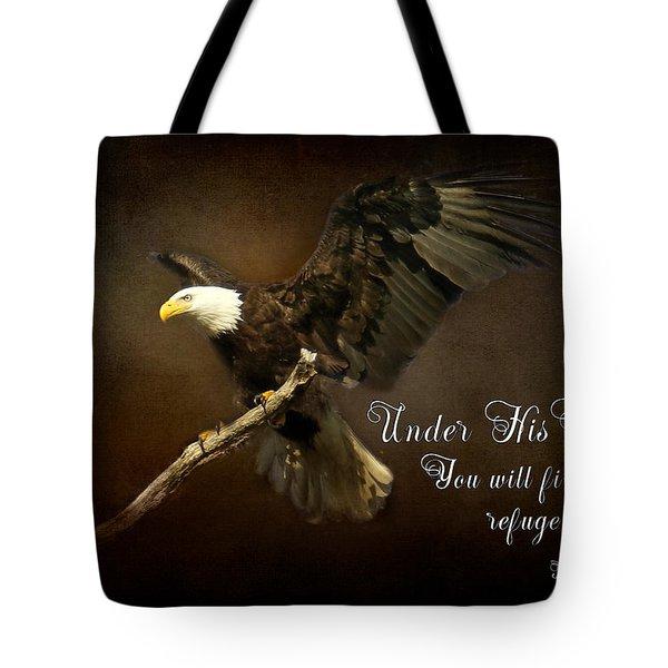 Under His Wings Tote Bag