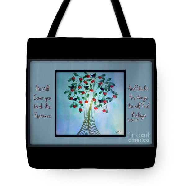 Under His Wings Tote Bag