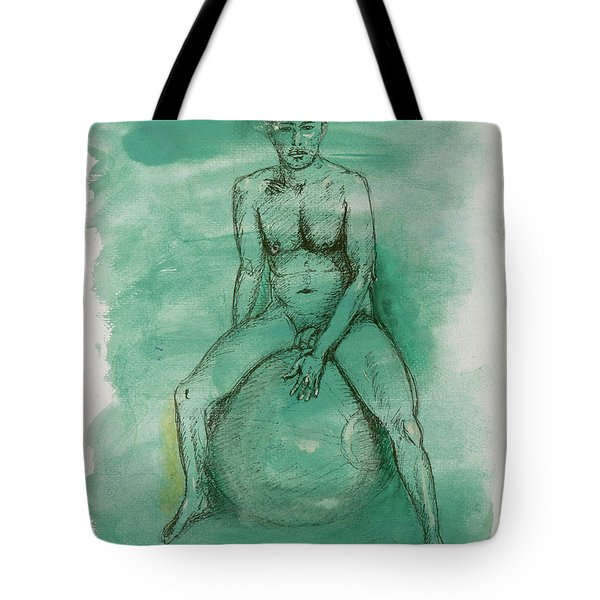 Tote Bag featuring the drawing Under Pressure by Paul McKey