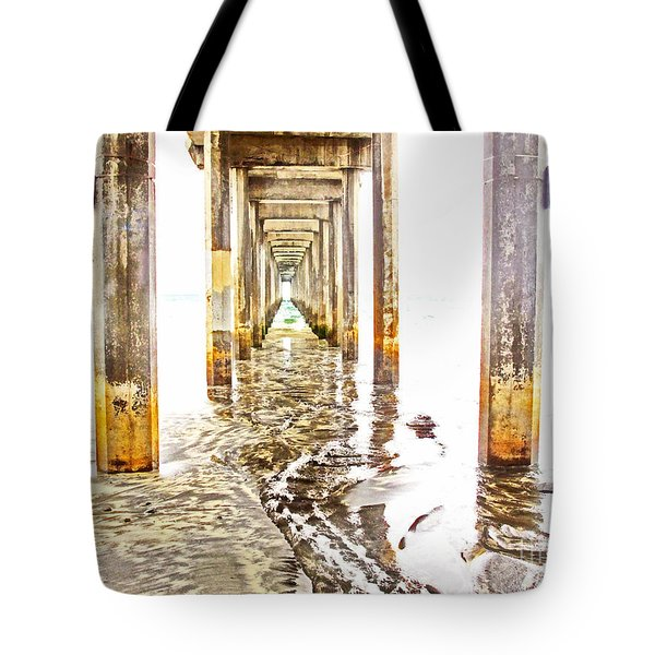 Under Scripps Pier Tote Bag