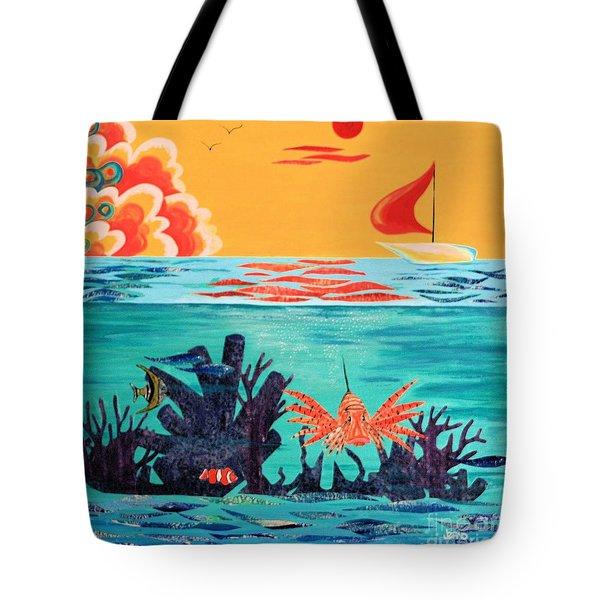 Bright Coral Reef Tote Bag