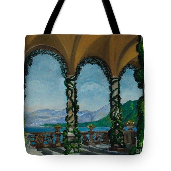 Under The Arches At Villa Balvianella Tote Bag by Charlotte Blanchard