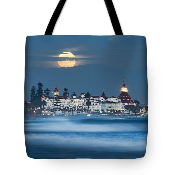 Under The Blue Moon Tote Bag