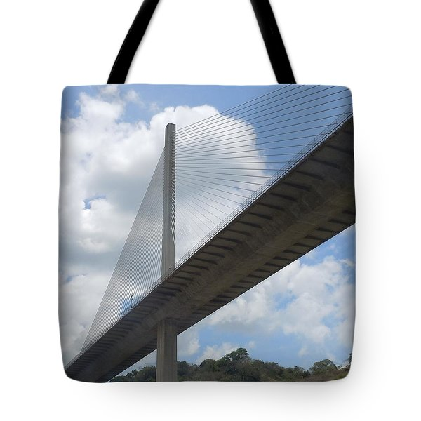Under The Bridge Through Panama Tote Bag