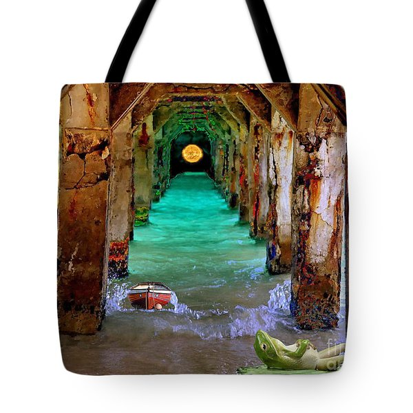Under The Broadwalk Tote Bag by Mojo Mendiola