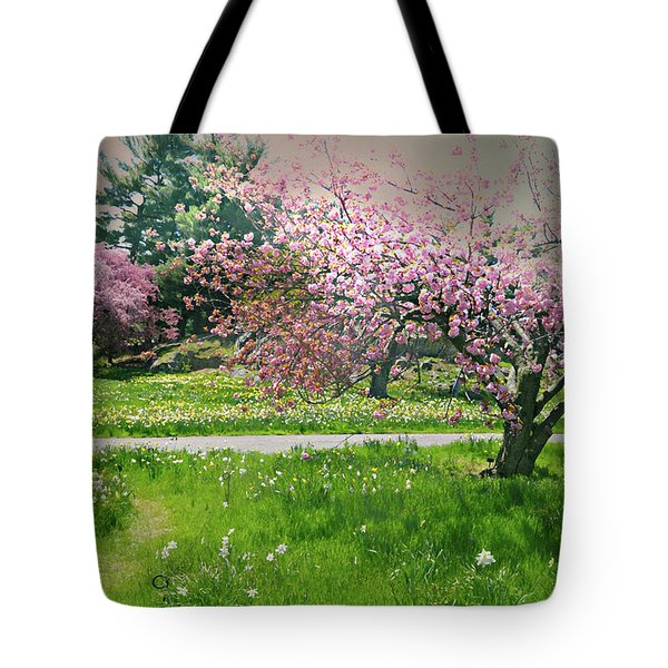 Tote Bag featuring the photograph Under The Cherry Tree by Diana Angstadt