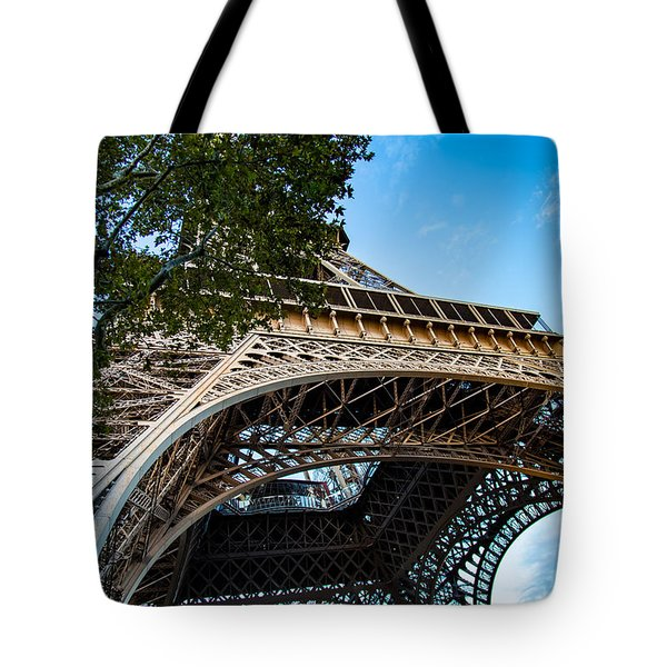 Tote Bag featuring the photograph Under The Eiffel by Kim Wilson