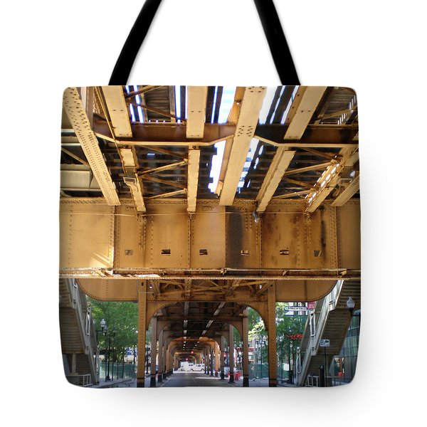Under The El - 1 Tote Bag by Ely Arsha