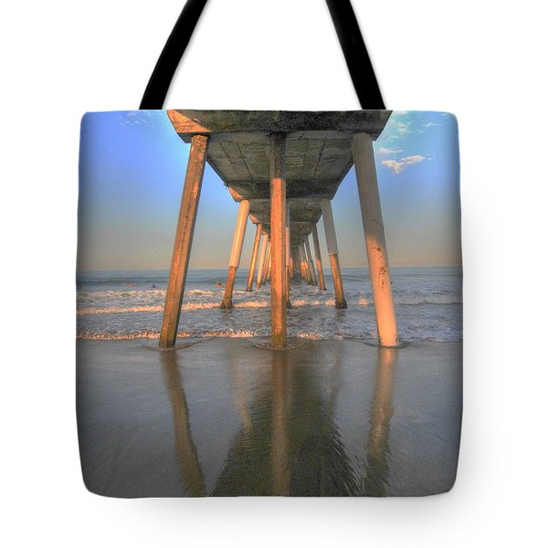 Under The Hermosa Pier Tote Bag