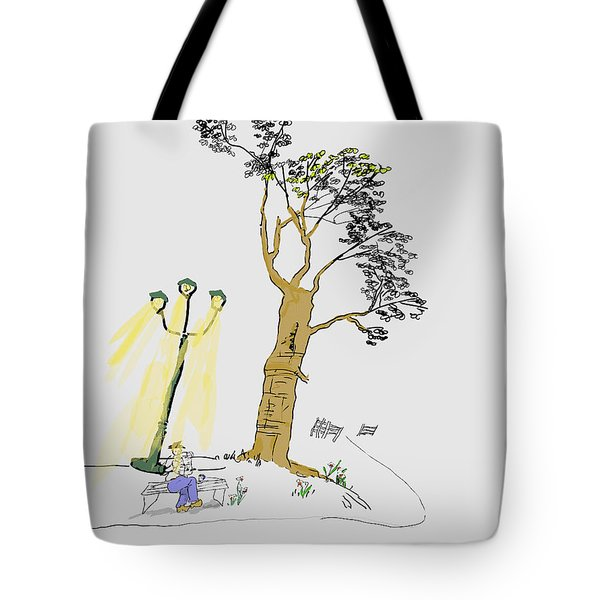 Under The Light Tote Bag