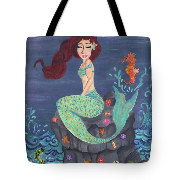 Under The Merlight Sea Tote Bag