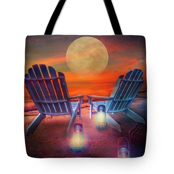 Tote Bag featuring the photograph Under The Moon by Debra and Dave Vanderlaan