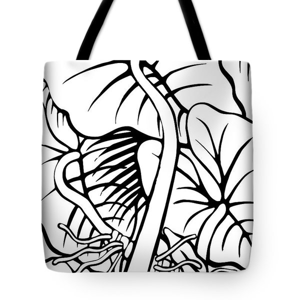 Under The Night Leaves Tote Bag