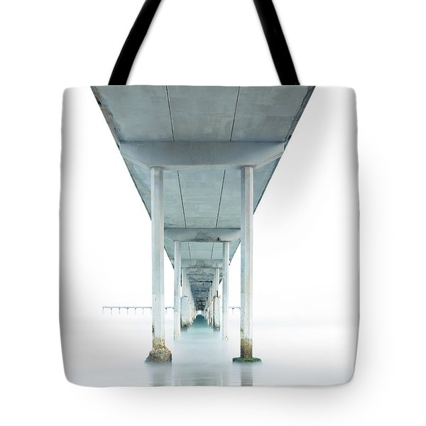 Tote Bag featuring the photograph Under The Ocean Beach Pier Early Morning by James Sage