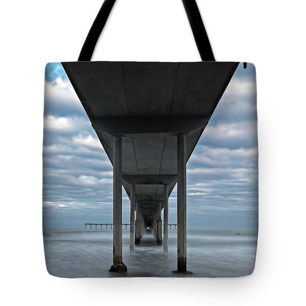 Tote Bag featuring the photograph Under The Ocean Beach Pier San Diego Early Morning by James Sage