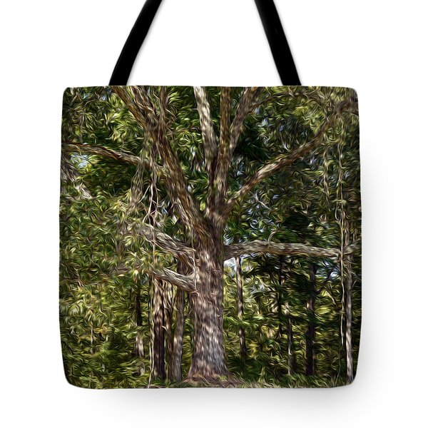 Under The Old Oak Tree Tote Bag by Wanda Brandon