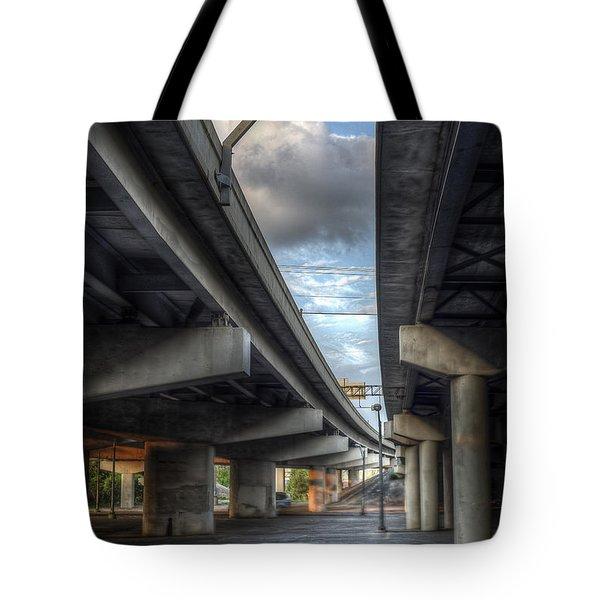 Under The Overpass II Tote Bag
