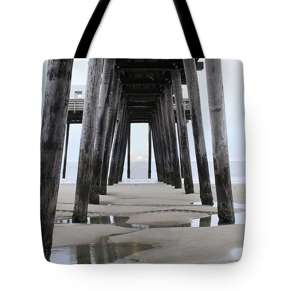 Under The Pier Tote Bag by Sharon Batdorf