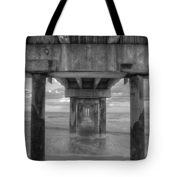 Under The Pier Tote Bag by Steve Gravano