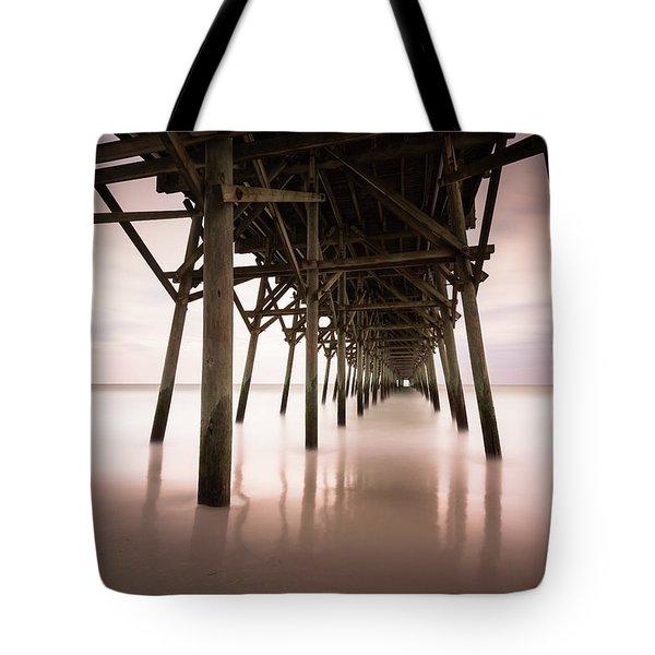 Under The Pier Sunset, Garden City Tote Bag