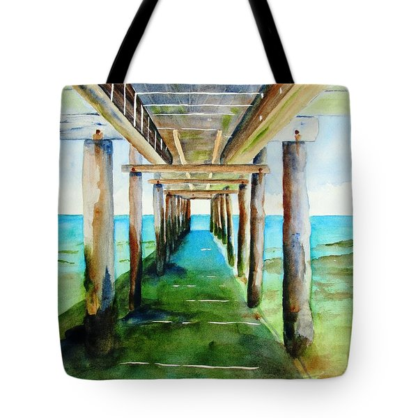 Under The Playa Paraiso Pier Tote Bag