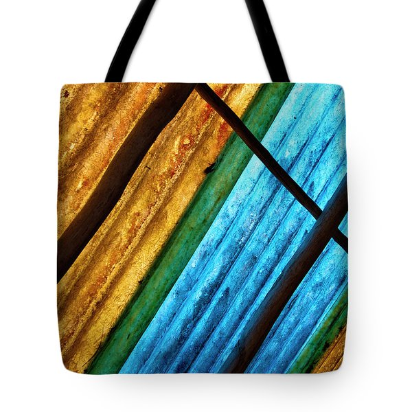 Tote Bag featuring the photograph Under The Roof by Rico Besserdich