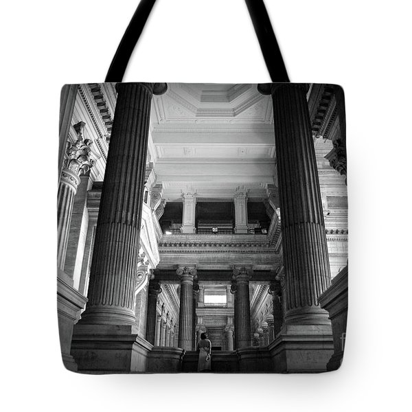 Under The Scaffolding Of The Palace Of Justice - Brussels Tote Bag