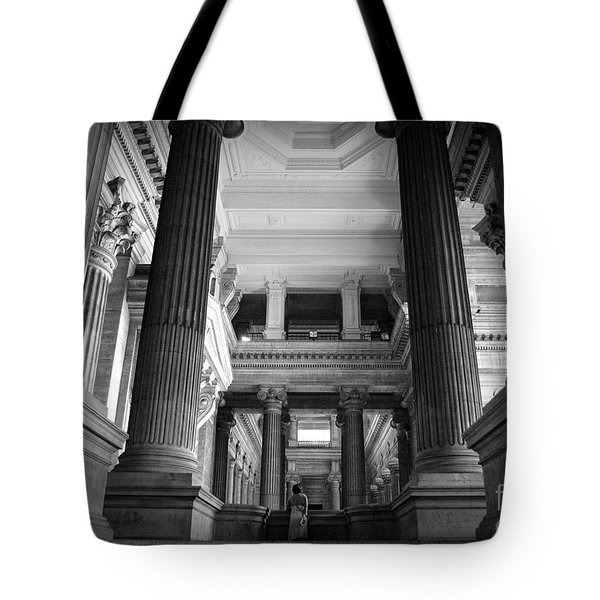 Tote Bag featuring the photograph Under The Scaffolding Of The Palace Of Justice - Brussels by RicardMN Photography