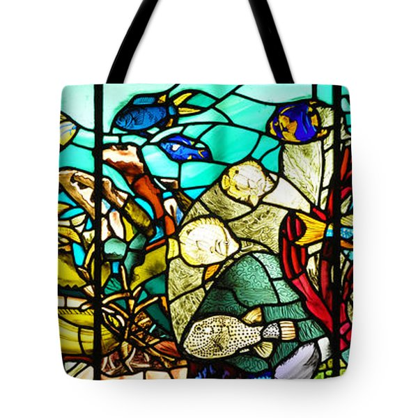 Under The Sea - Stained Glass Tote Bag by Bill Cannon