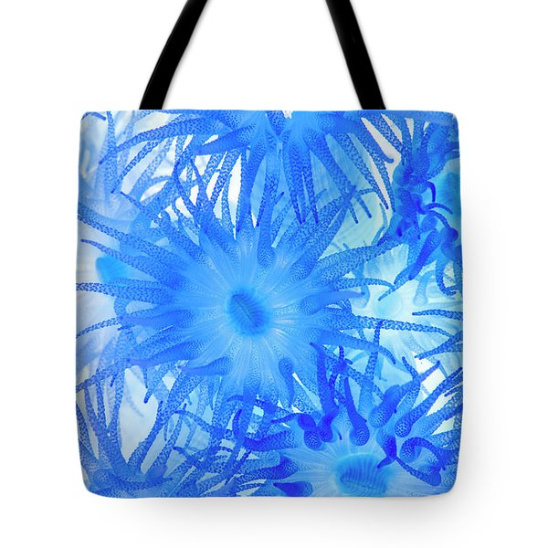 Tote Bag featuring the photograph Under The Sea Colorful Watercolor Art #14 by Debra and Dave Vanderlaan