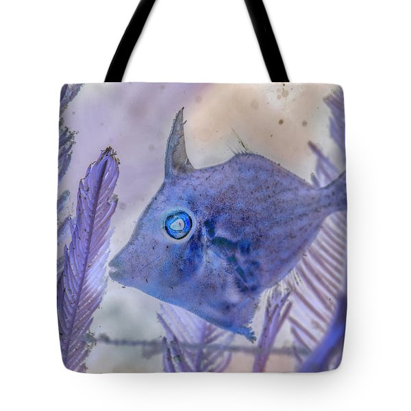 Tote Bag featuring the photograph Under The Sea Colorful Watercolor Art #8 by Debra and Dave Vanderlaan