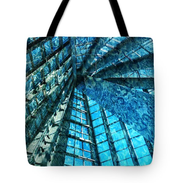 Under The Sea Dwelling Abstract Tote Bag
