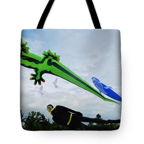 Under The Sea Kites Tote Bag