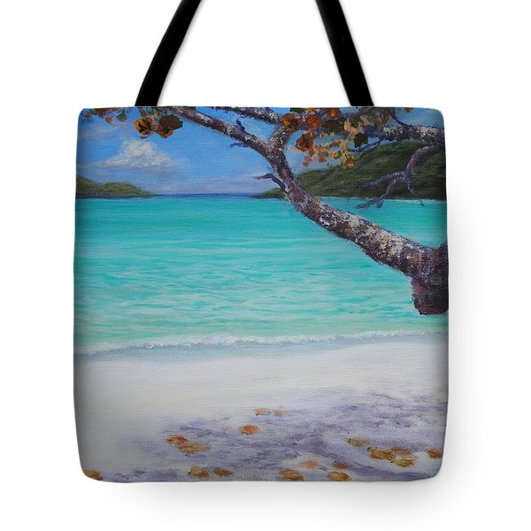 Under The Tree At Magen's Bay Tote Bag
