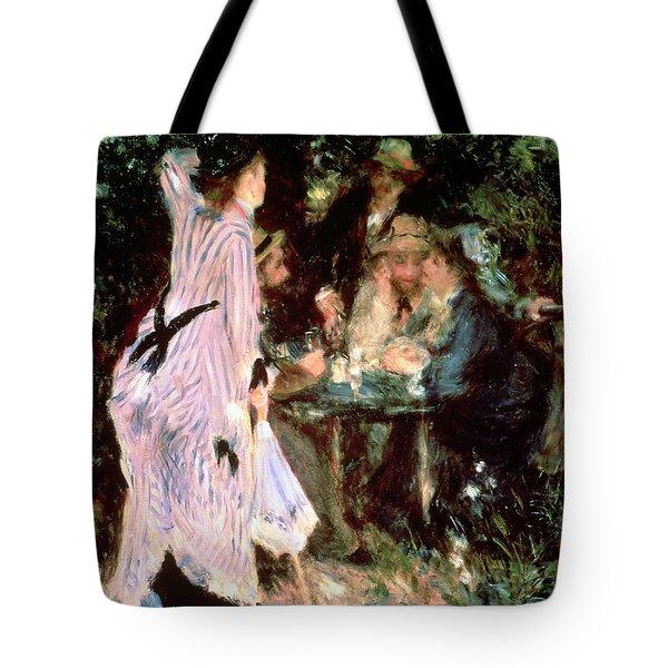 Under The Trees Of The Moulin De La Galette Tote Bag by Pierre Auguste Renoir