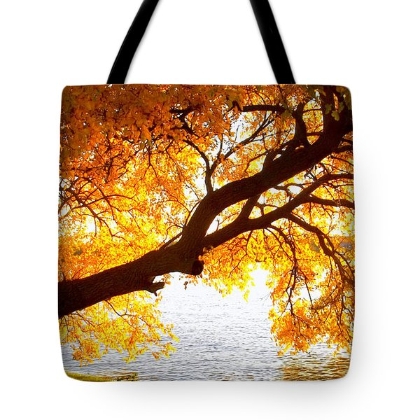 Under The Yellow Tree Tote Bag