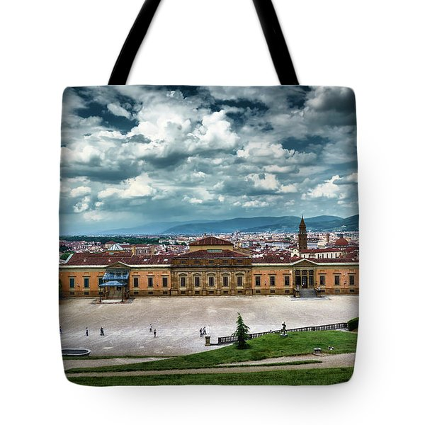 The Meridian Palace And Cityscape In Florence, Italy Tote Bag