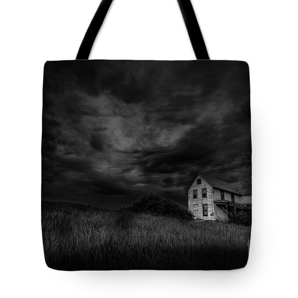 Under Threatening Skies Tote Bag