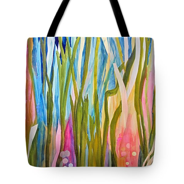 Tote Bag featuring the painting Under Water by Sandy McIntire