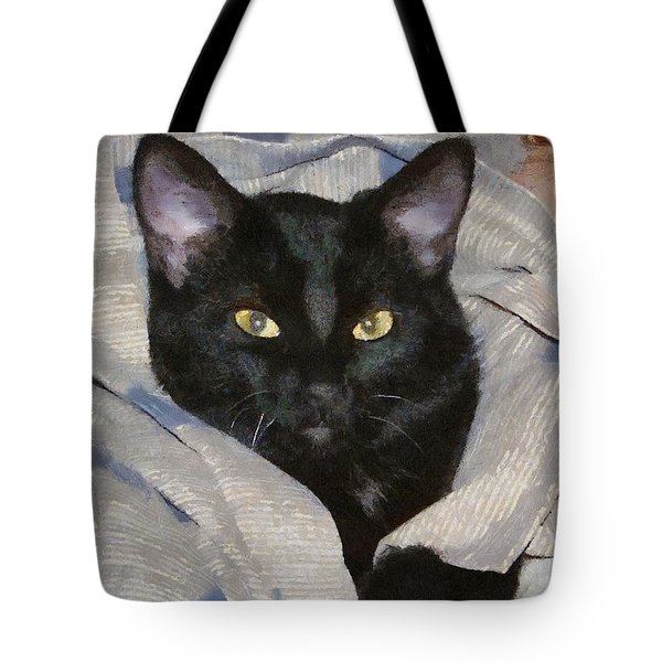 Undercover Kitten Tote Bag