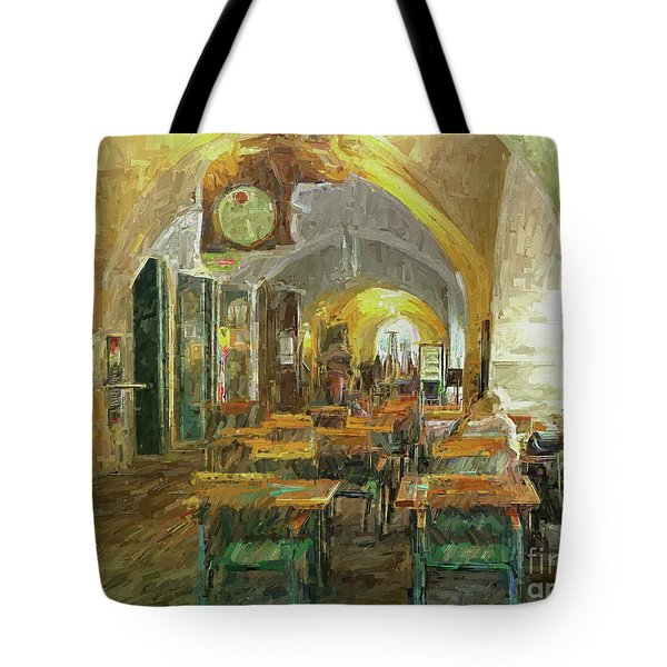 Underneath The Arches - Street Cafe, Prague Tote Bag