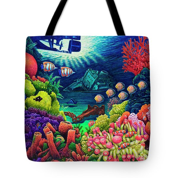 Undersea Creatures Vii Tote Bag by Michael Frank