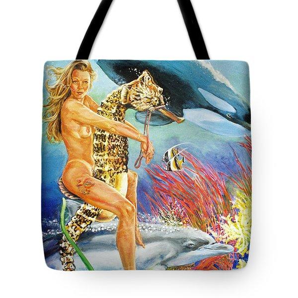 Undersea Fantasy Tote Bag by Bryan Bustard