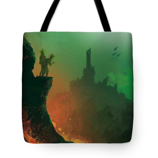 Undersea Volcano Tote Bag by Andy Catling