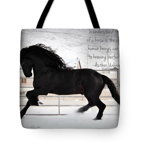 Understand The Soul Of A Horse Tote Bag