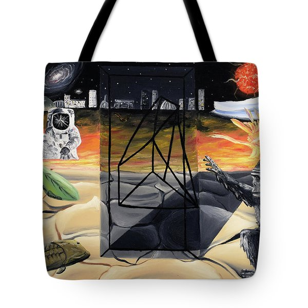 Tote Bag featuring the painting Understanding Time by Ryan Demaree