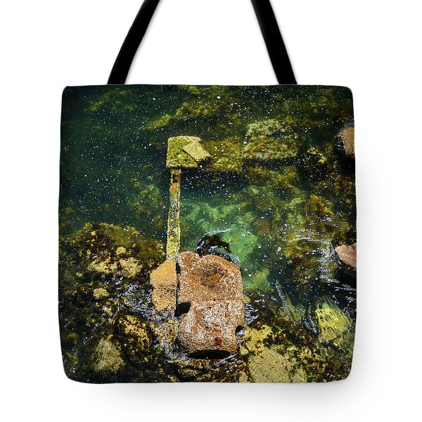 Tote Bag featuring the photograph Underwater Art At Cannery Row by Susan Wiedmann
